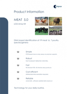 Brochure Animal Species Identification MEAT